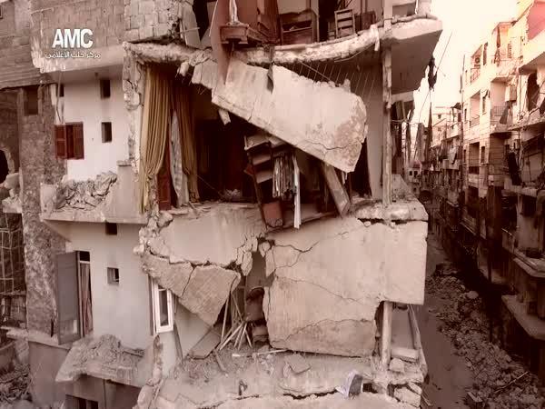 Jak vypadá Aleppo (Sýrie) z dronu