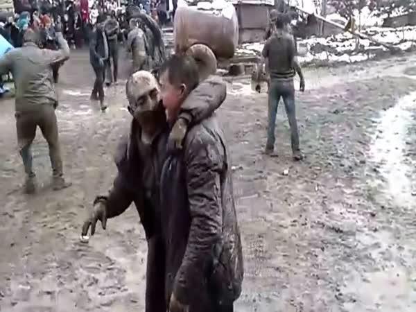 Posvatební večírek na Kavkazu