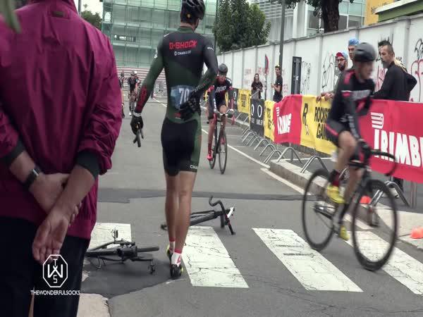 Naštvanost cyklistického závodníka