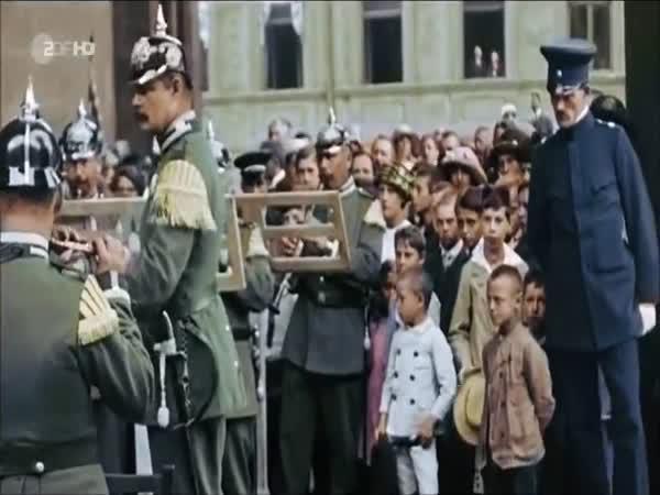 Berlín v roce 1900 (barevné záběry)