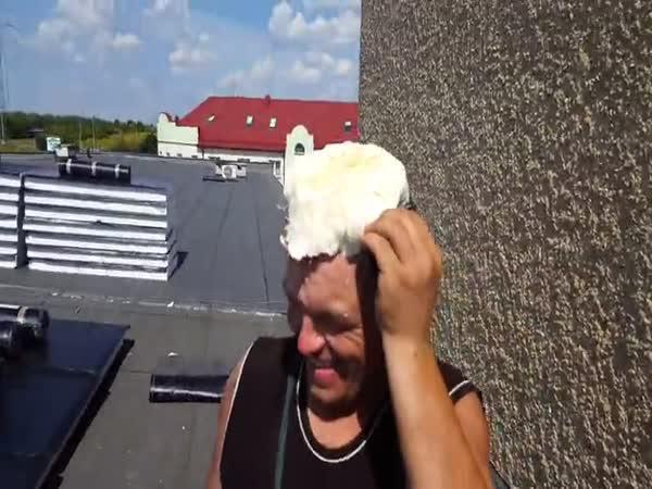 Idiot - Montážní pěna na hlavě