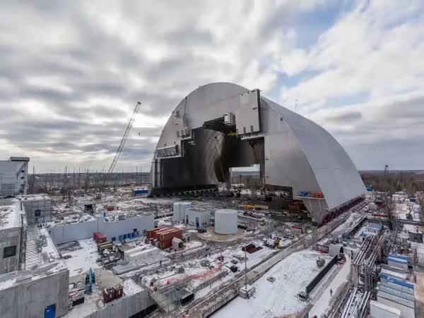 Timelapse - Sarkofág v Černobylu