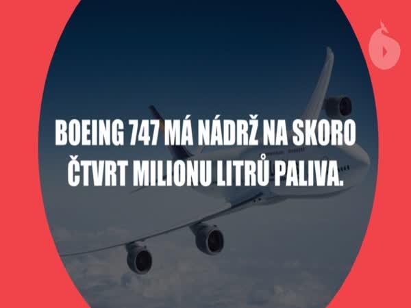 Zajímavosti o letadlech