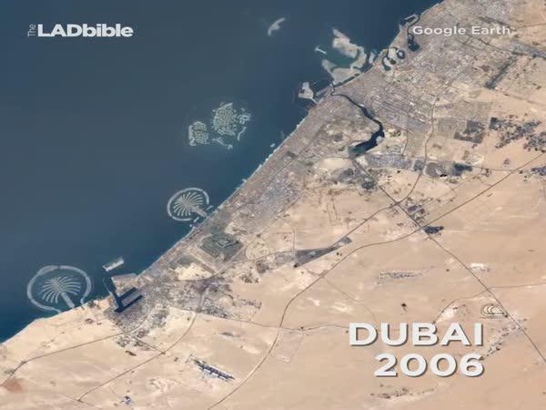 Google Earth - Vývoj velkých měst