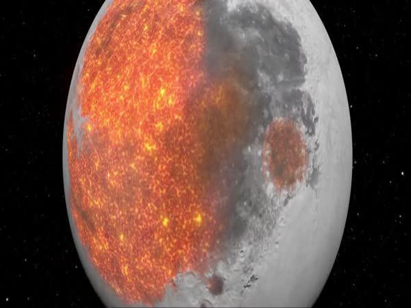 Vývoj Měsíce za 4,5 milard let