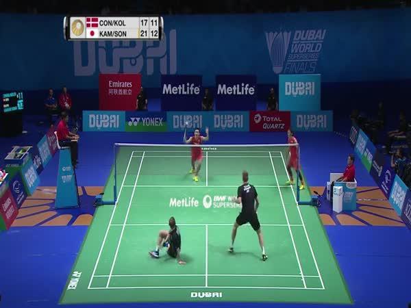 Úžasná výměna v badmintonu