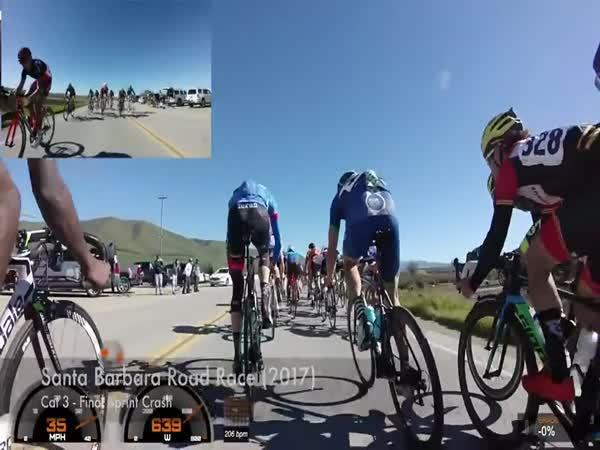 Sražený cyklista