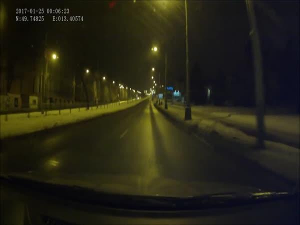 Česká republika - magor na silnici