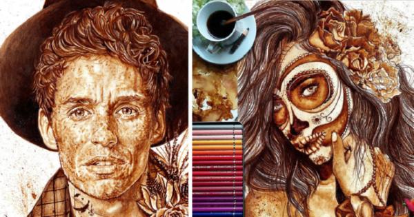 GALERIE - Kresba kávou