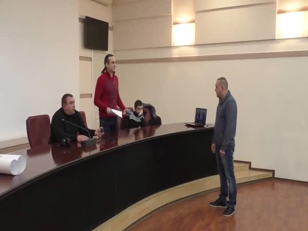 Ukrajina - Schůzka zastupitelů s občany