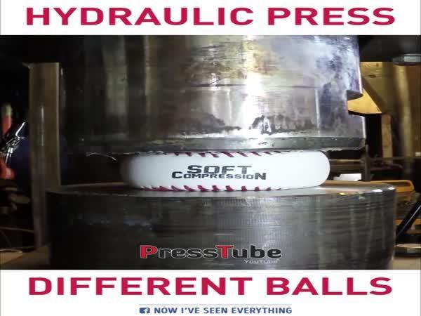 Hydraulika drtí míčky
