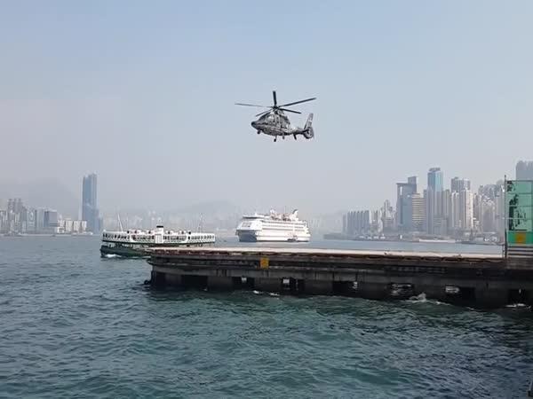 Magický vzlet vrtulníku