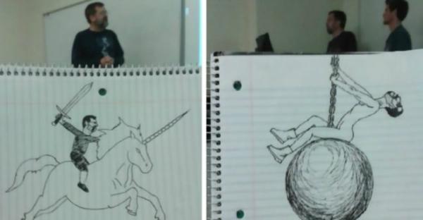 GALERIE - Student kreslil učitele