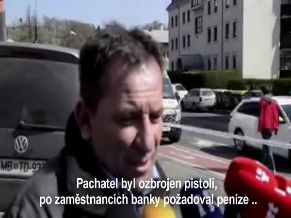 Popis pachatele po vyloupení banky