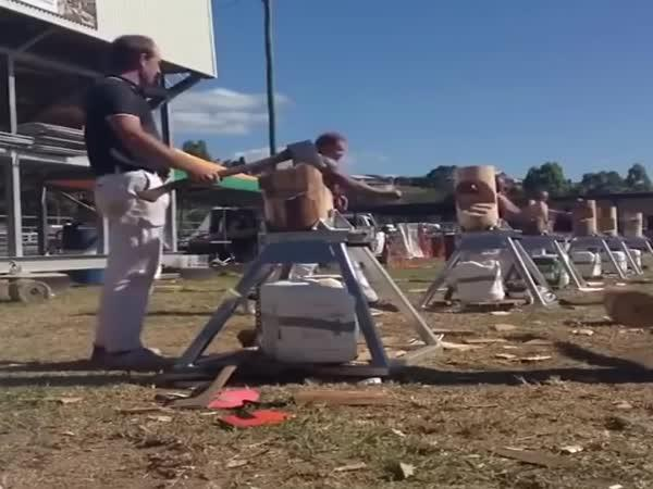 Borec - Jednoruký dřevorubec