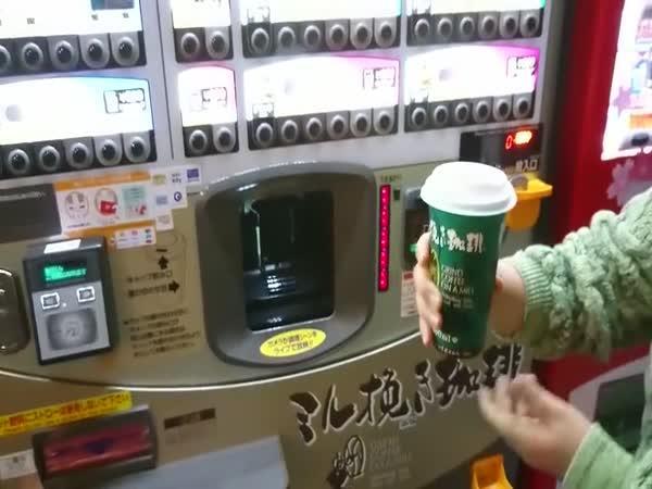 Japonský automat na kávu
