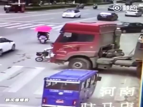 Štěstí při cestě do práce