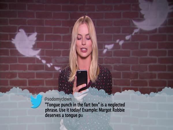 Celebrity čtou urážlivé tweety