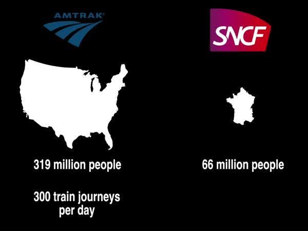 Proč vlaky v USA nestojí za nic?