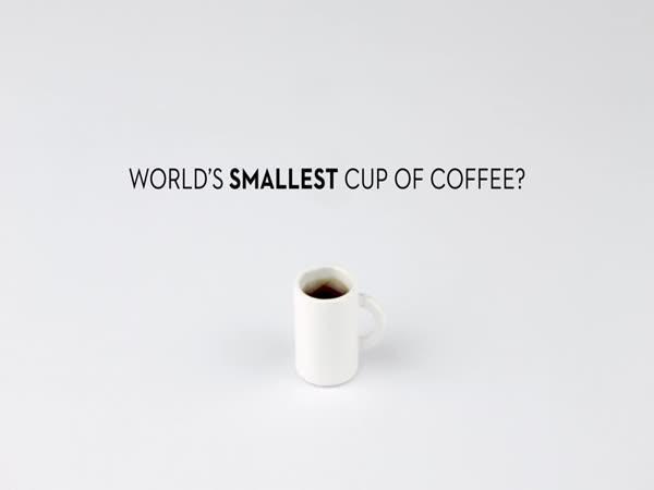 Nejmenší šálek kávy na světě