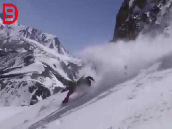 Drsný pád na lyžích