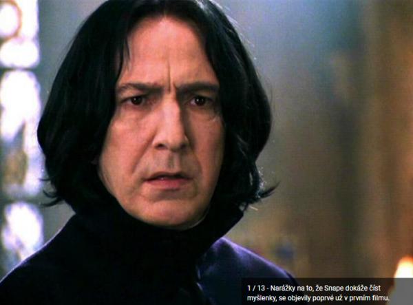 GALERIE - 12 skrytých scén v Harry Potterovi
