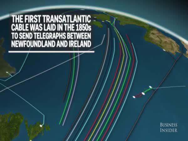 Optické kabely mezi světadíly