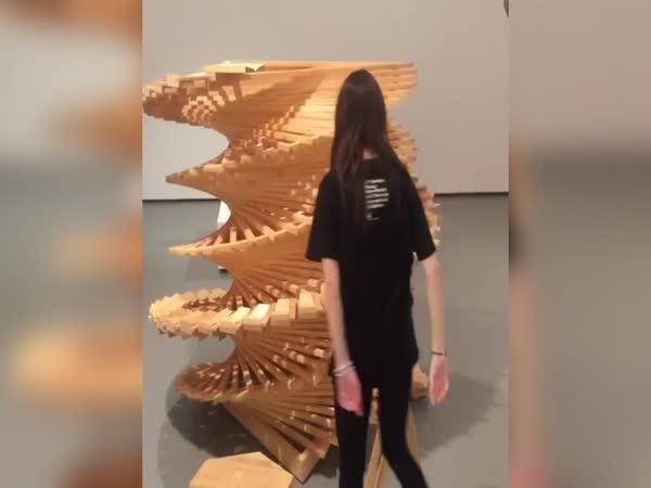 Dřevěný spirálový xylofón