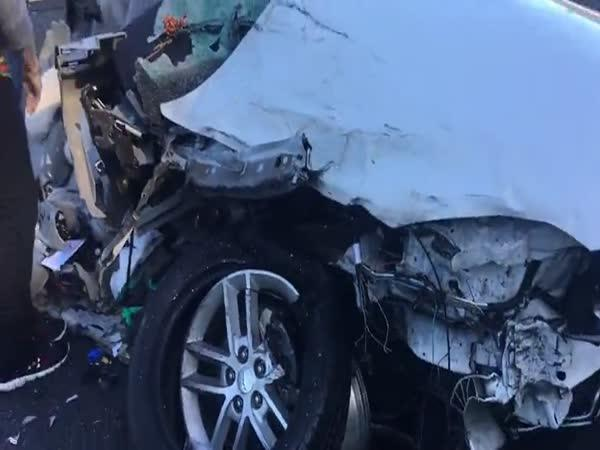 Záběry po hrůzostrašné nehodě