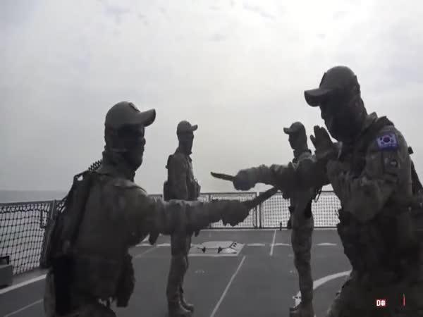 Trénink korejských námořníků