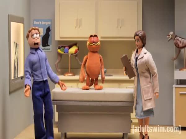 Garfield na veterině - Robot Chicken