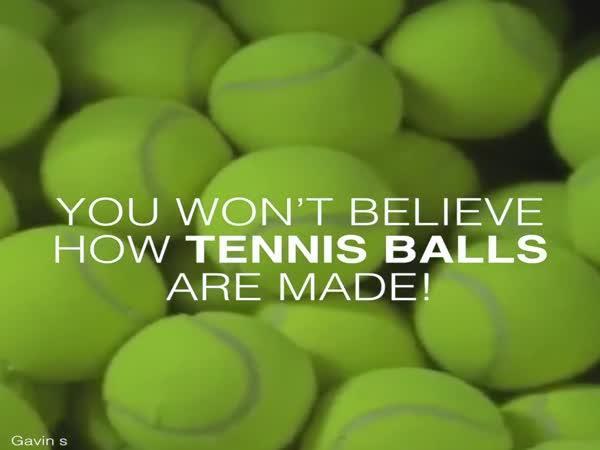 Jak se vyrábí tenisový míček