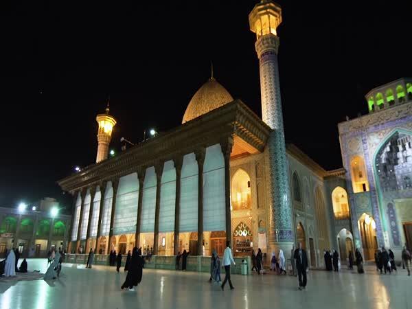 Stěny mešity v Iránu