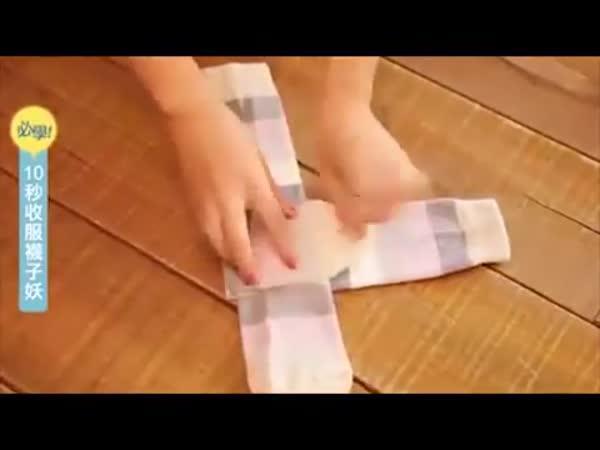 Jak lze skládat ponožky