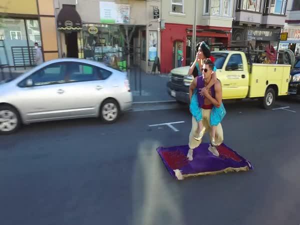 Aladin na kouzelném koberci