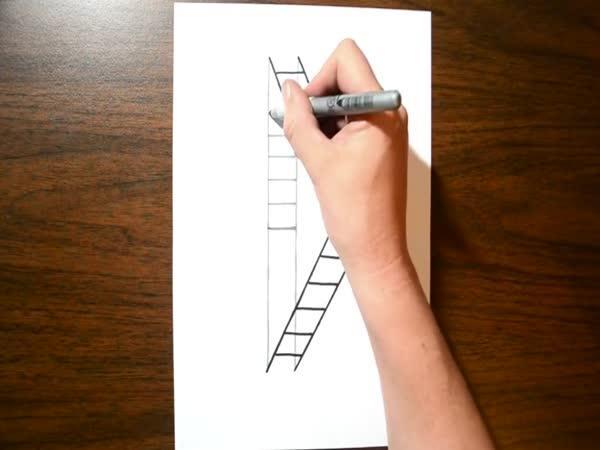 Návod - 3D žebřík (iluze)