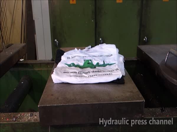 Hydraulický lis vs. prádlo
