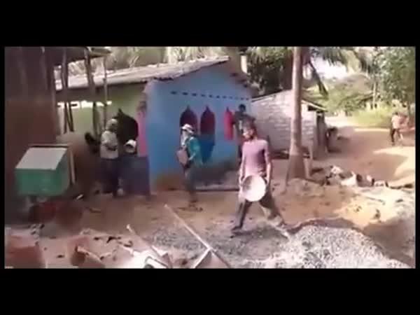 Jak makají zedníci v Africe
