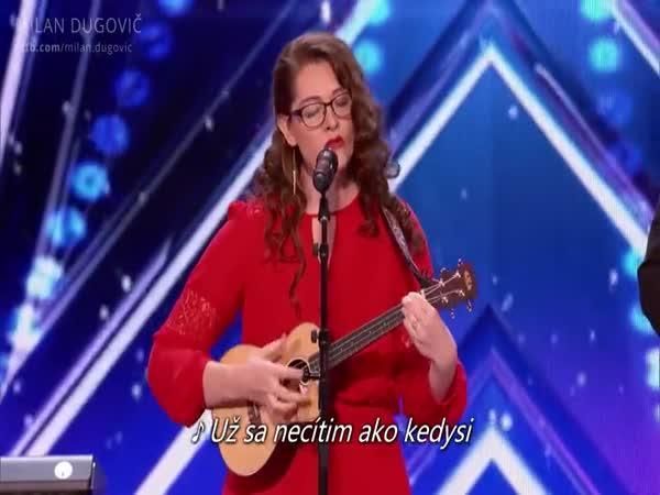 Neslyšící zpěvačka v americkém Talentu