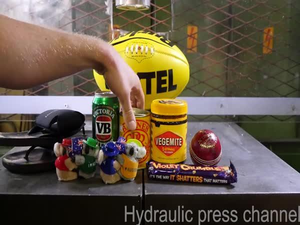 Hydraulický lis vs. Austrálie