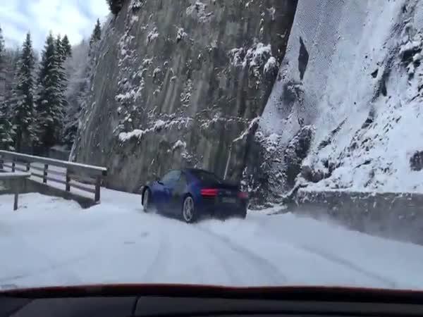 Driftování s Audi v horách