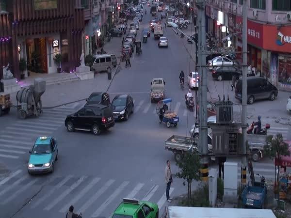 Jak fungují křižovatky v Číně