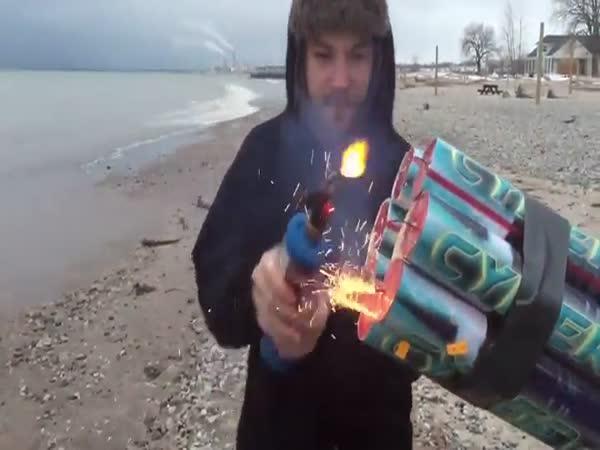 Silvestrovský kanon na ohňostroj