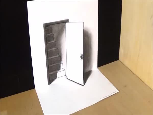 Jak nakreslit 3D schody