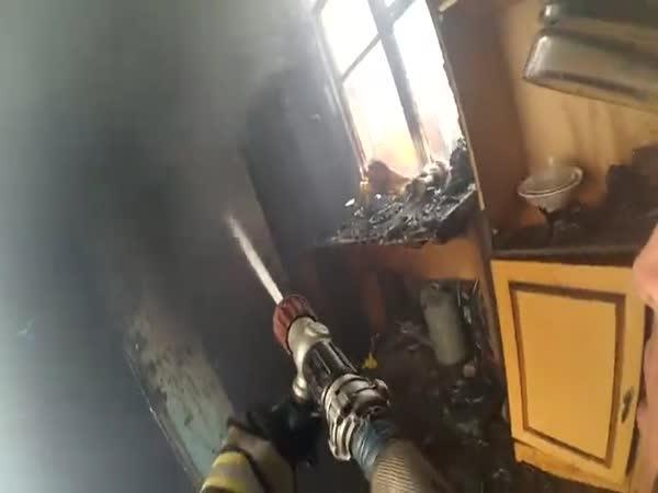 Práce ruských hasičů