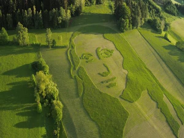 ČR - Mona Lisa z trávy (timelapse)
