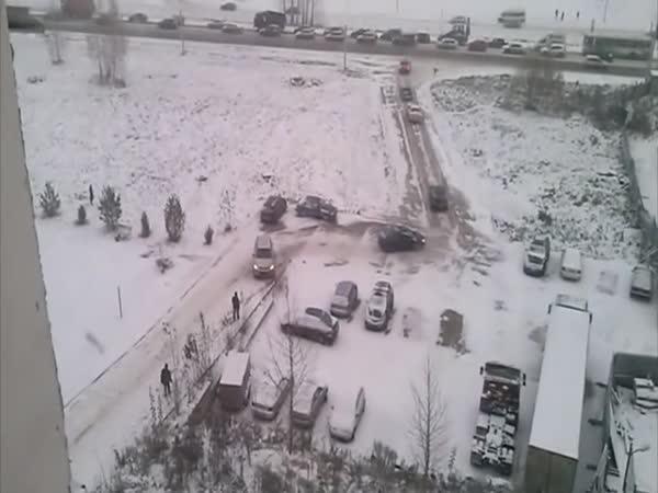 Rusko – Zima na silnicích