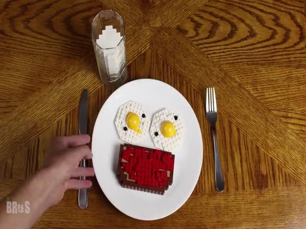 Vajíčka s toustem (lego verze)