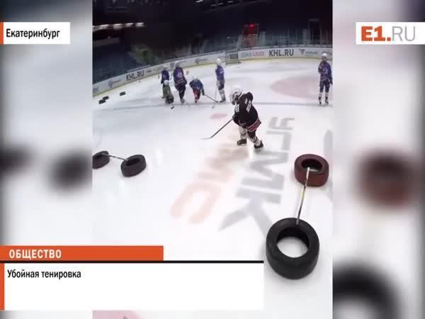 Trénink malých ruských hokejistů