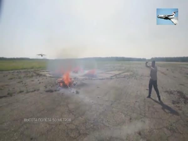 Hašení táboráku v Rusku